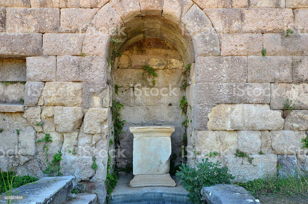 Asclepium in Kos island in Greece stock photo