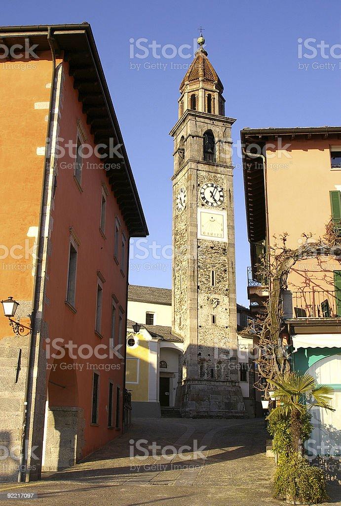 Ascona church royalty-free stock photo