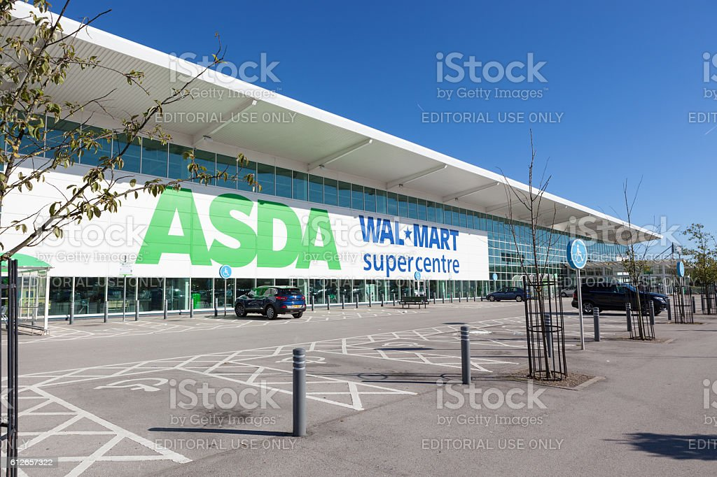 Asda Walmart Supercentre stock photo