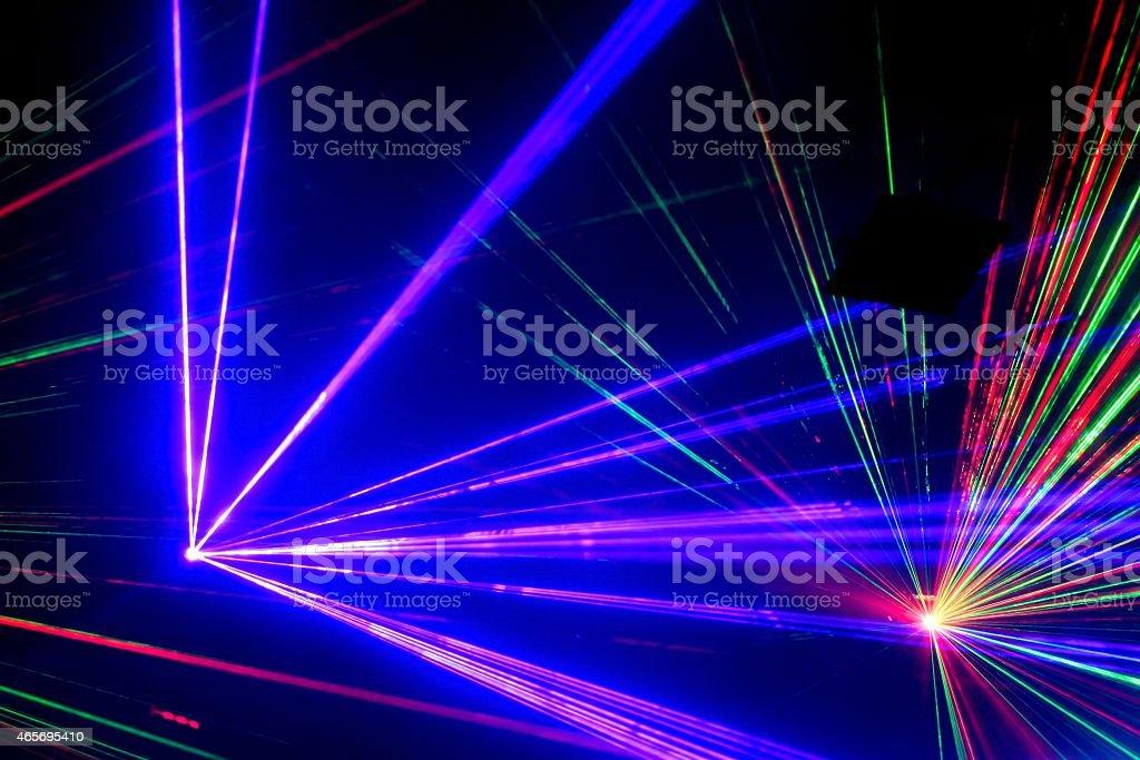 aser light in nightclub stock photo