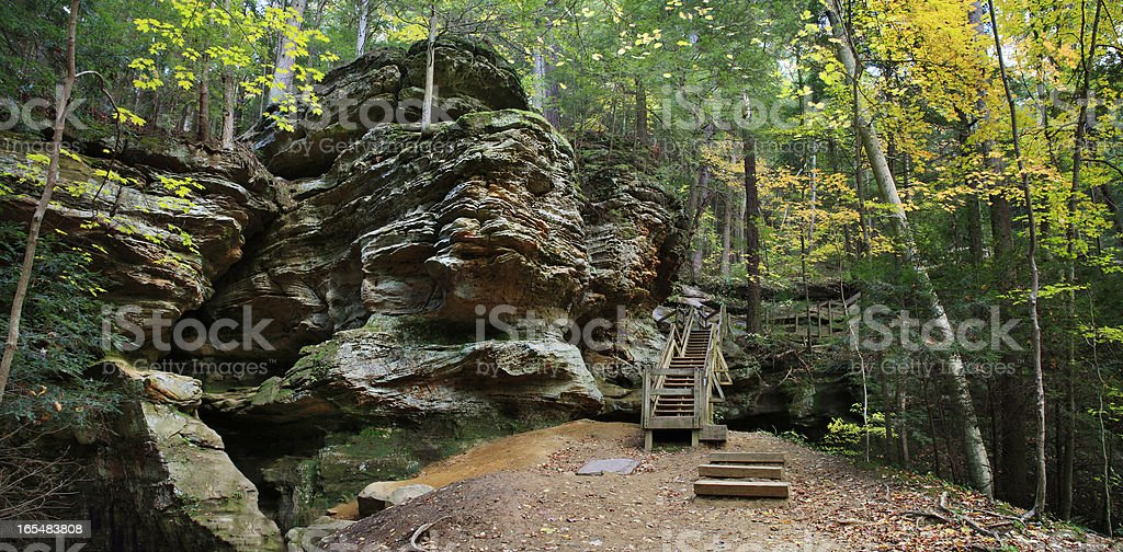 Ash Cave Cliffs royalty-free stock photo