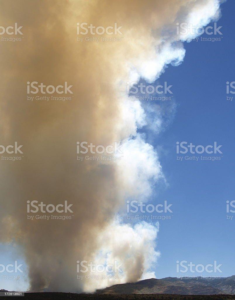 Ash & Smoke - Wildfire Fire Danger royalty-free stock photo