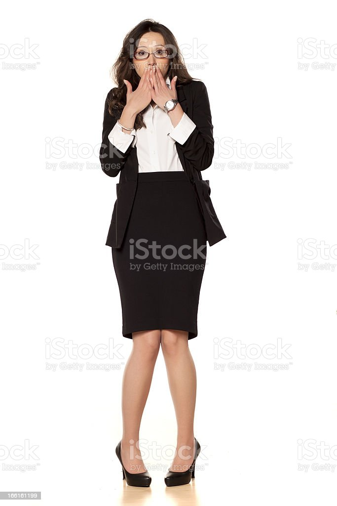 ashamed business woman royalty-free stock photo