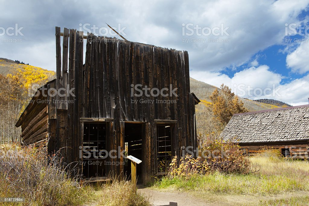 Ashcroft Gost Town Post Office. stock photo