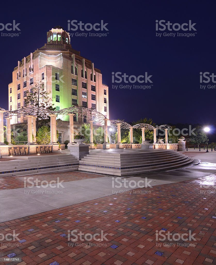 Asheville City Hall royalty-free stock photo