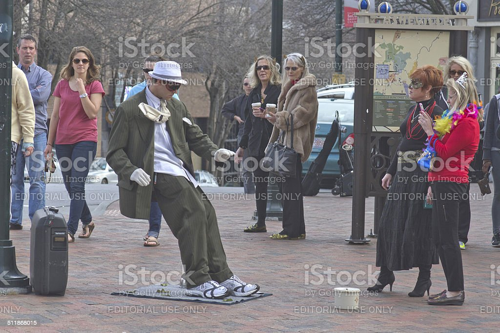 Asheville Living Statue stock photo