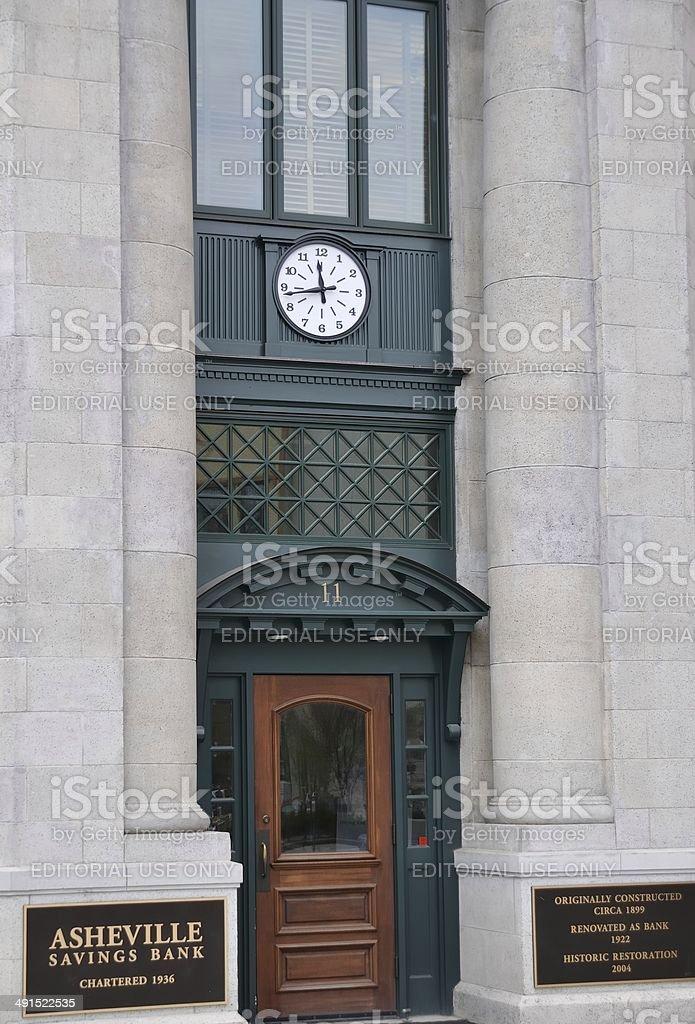 Asheville Savings Bank stock photo