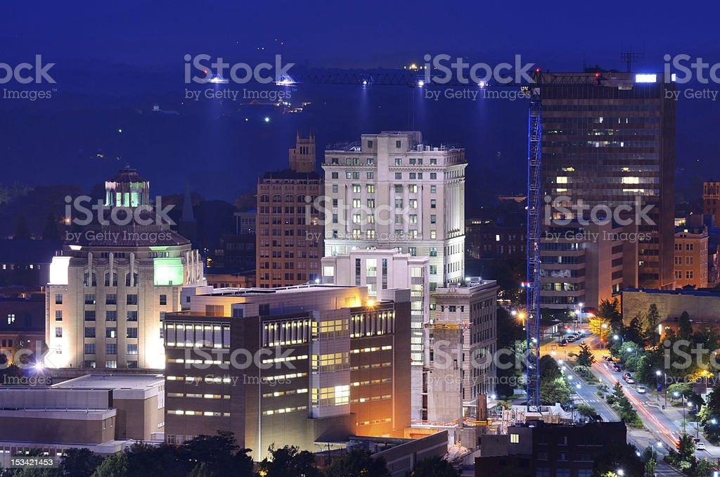 Asheville Skyline stock photo
