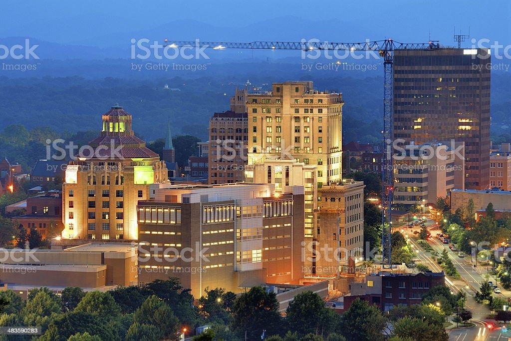 Asheville Skyline royalty-free stock photo