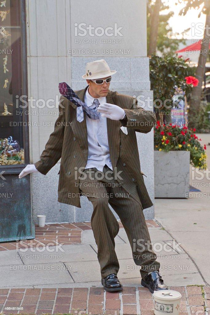 Asheville Street Performer stock photo