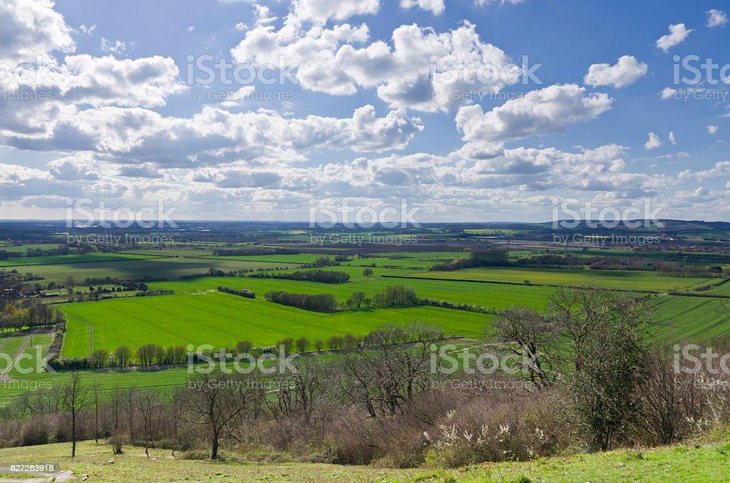 Ashford Kent Country View Near Wye North Downs stock photo