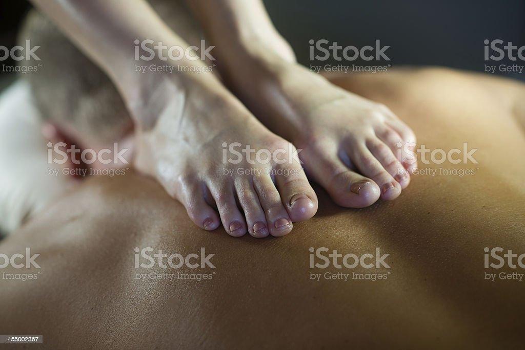 Ashiatsu - Massage royalty-free stock photo