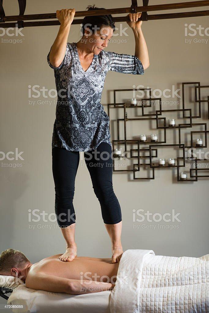 Ashiatsu Massage royalty-free stock photo