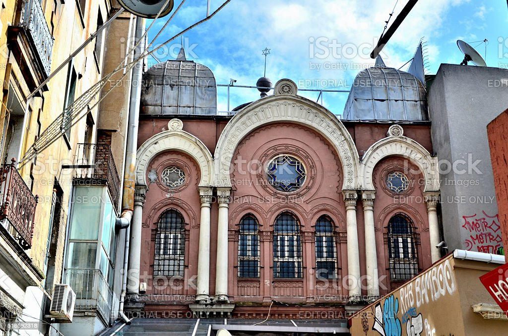 Ashkenazi Synagogue, Istanbul stock photo