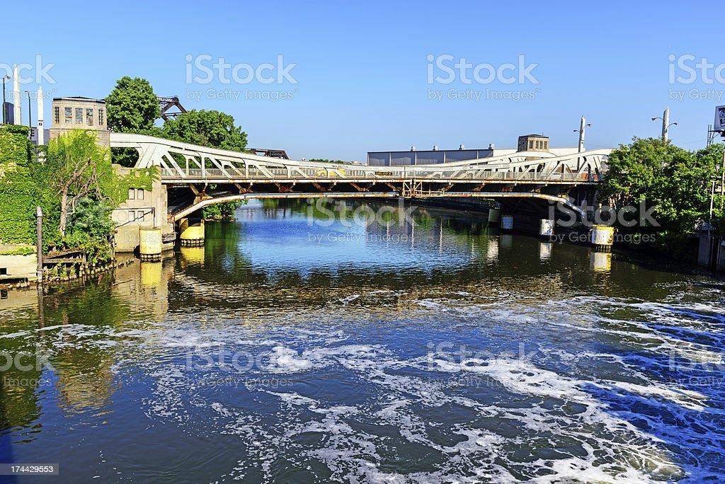 Ashland Avenue Bridge, Chicago stock photo