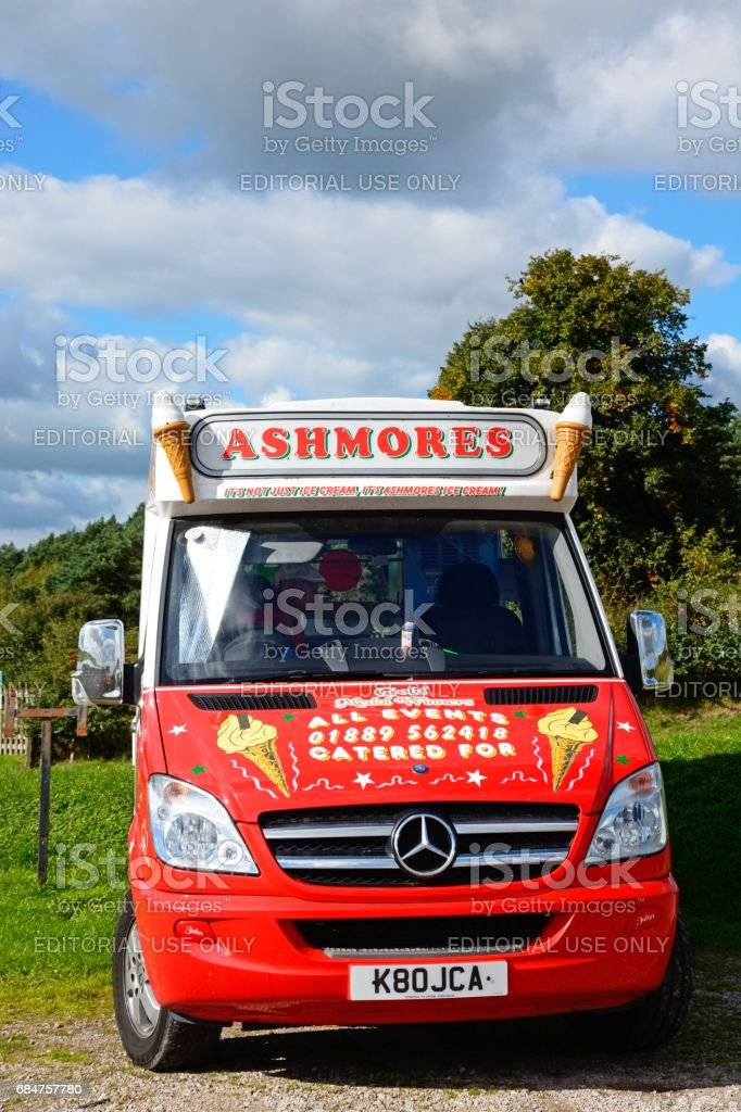 Ashmores ice cream van, Blithbury. stock photo