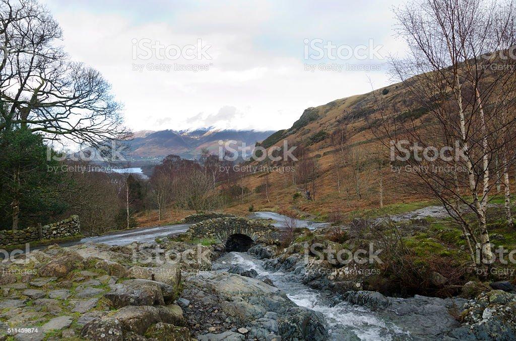 Ashness Bridge, Cumbria stock photo