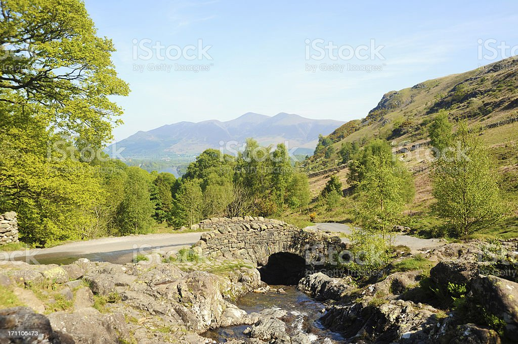 Ashness Bridge in the Lake District stock photo