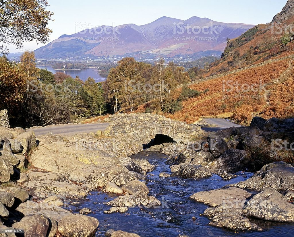 Ashness bridge, Lake District, Cumbria. royalty-free stock photo