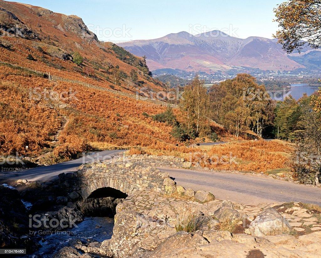 Ashness bridge, Lake District. stock photo