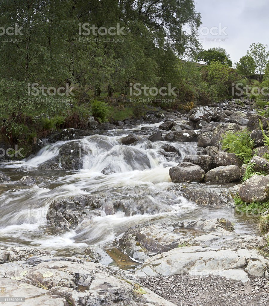 Ashness Bridge waterfall royalty-free stock photo