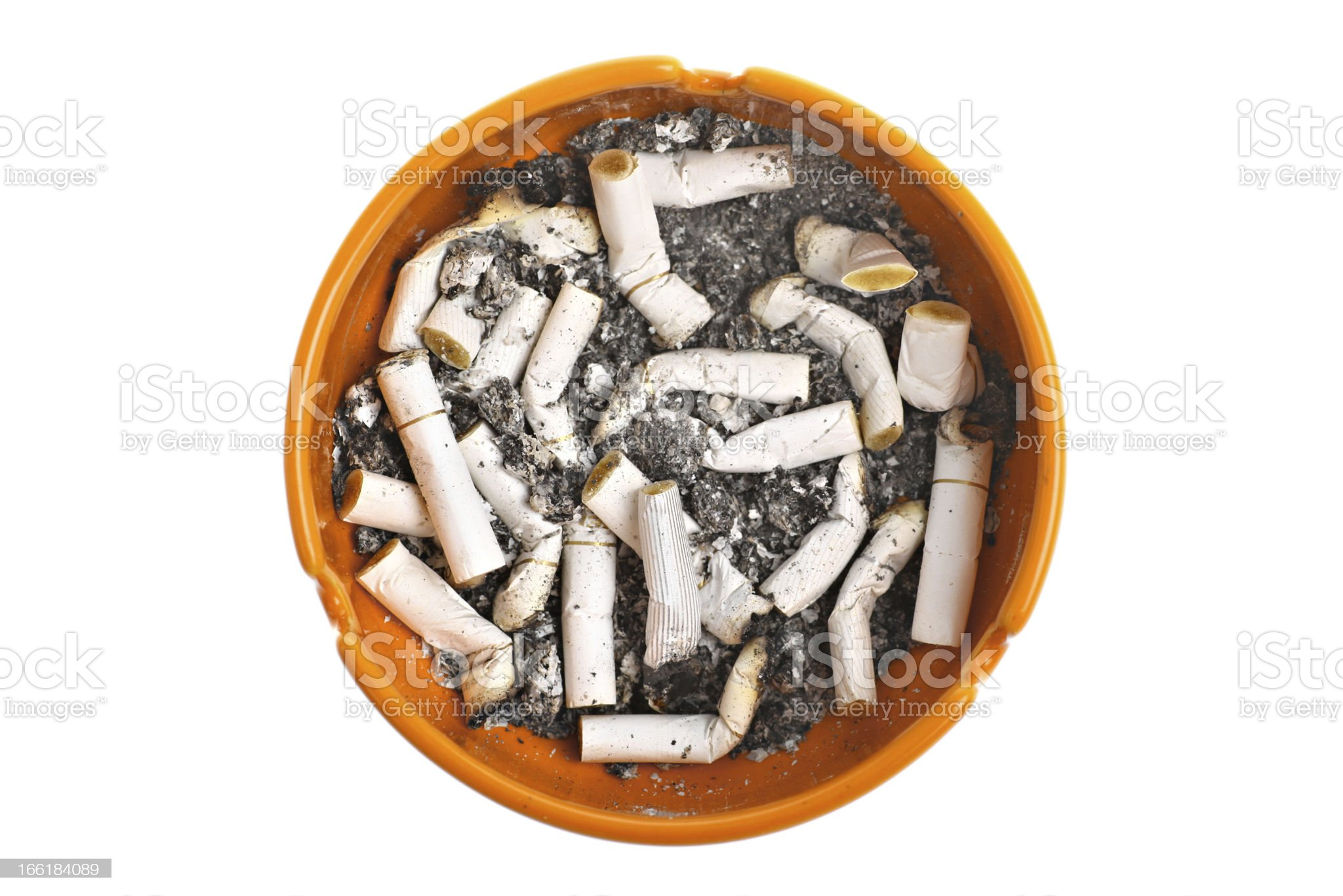 Ashtray and cigarettes royalty-free stock photo