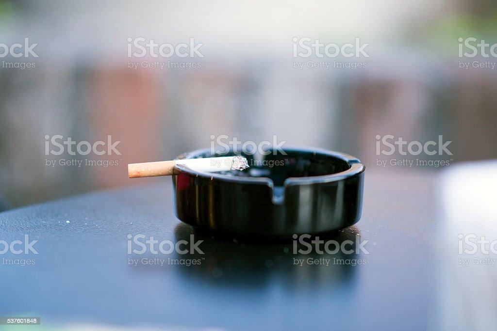 Ashtray & Cigarette stock photo