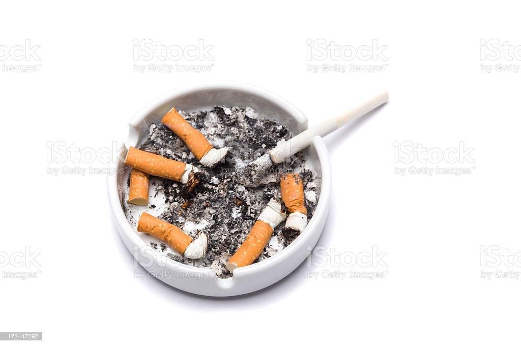 ashtray full of cigarettes royalty-free stock photo
