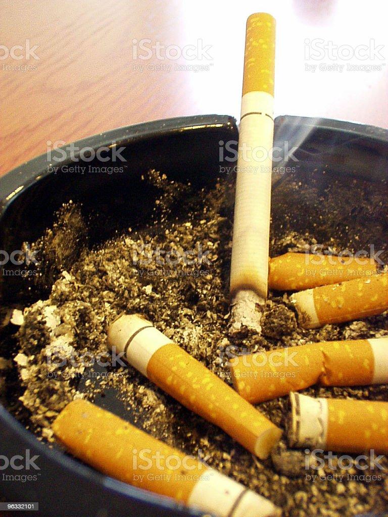 Ashtray with smoke stock photo