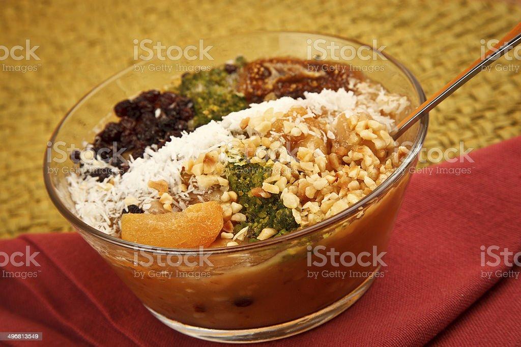 Ashura - Turkish dessert Asure royalty-free stock photo