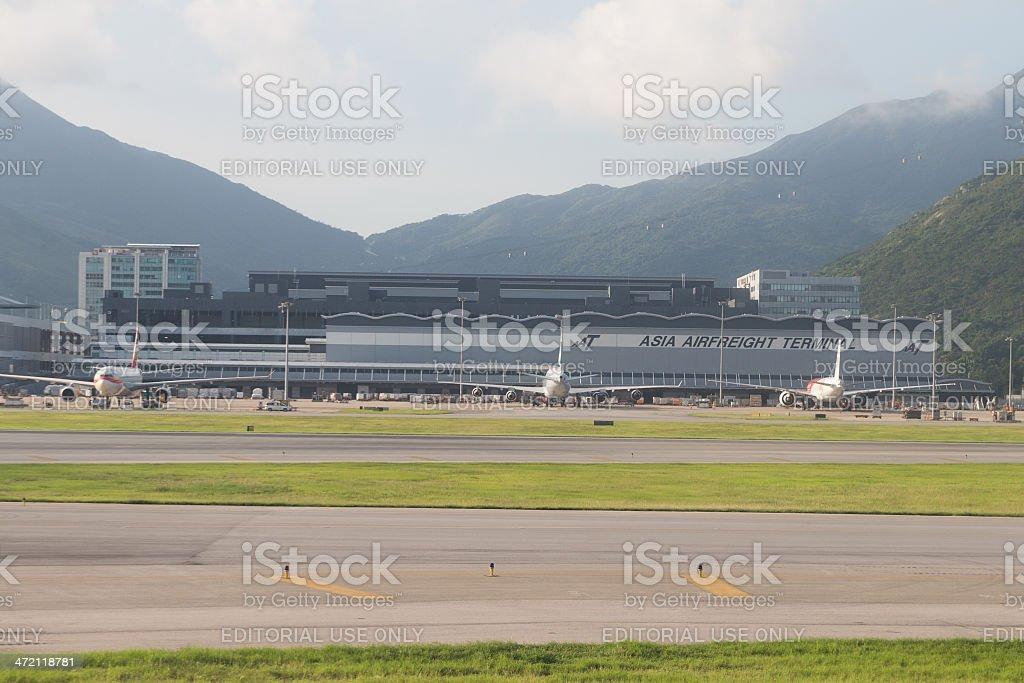 Asia Airfreight Terminal in Hong Kong stock photo