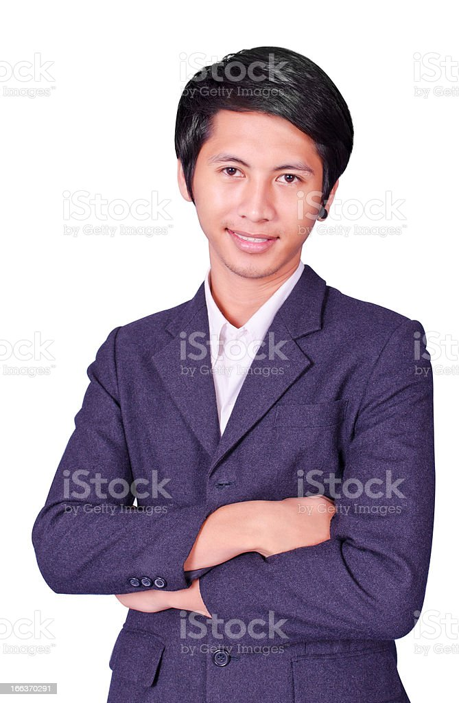 Asia businessman royalty-free stock photo