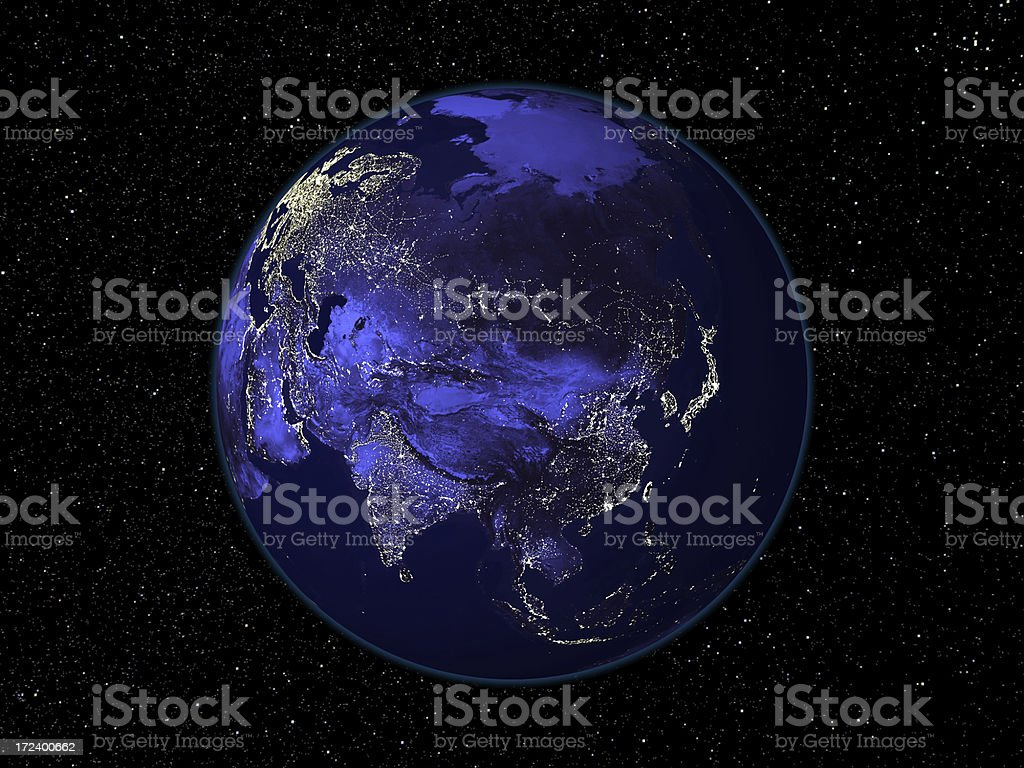 Asia by Night stock photo