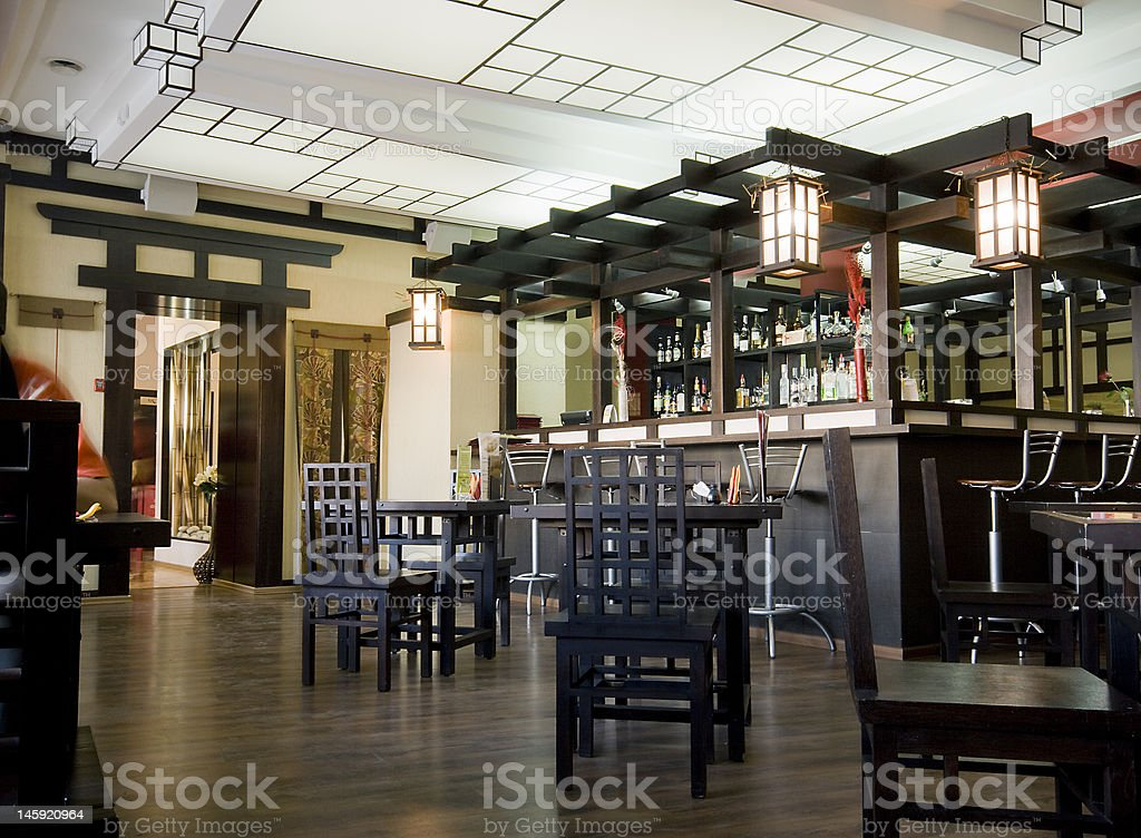 asia cafe stock photo