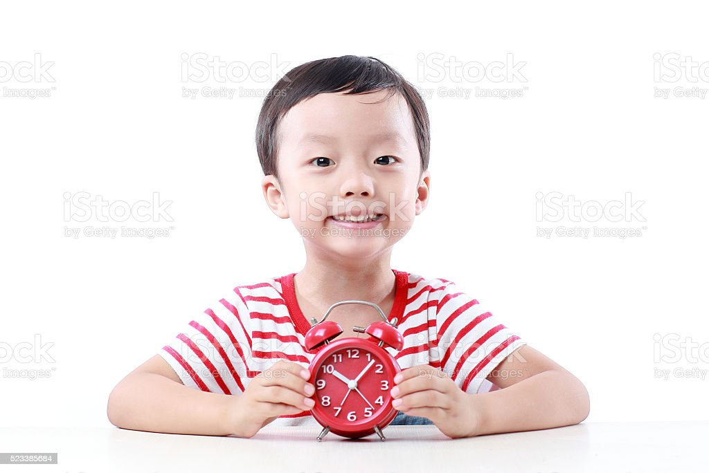 Asia child studying stock photo