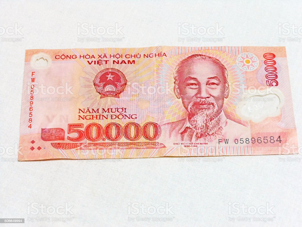 Asia currency notes stock photo
