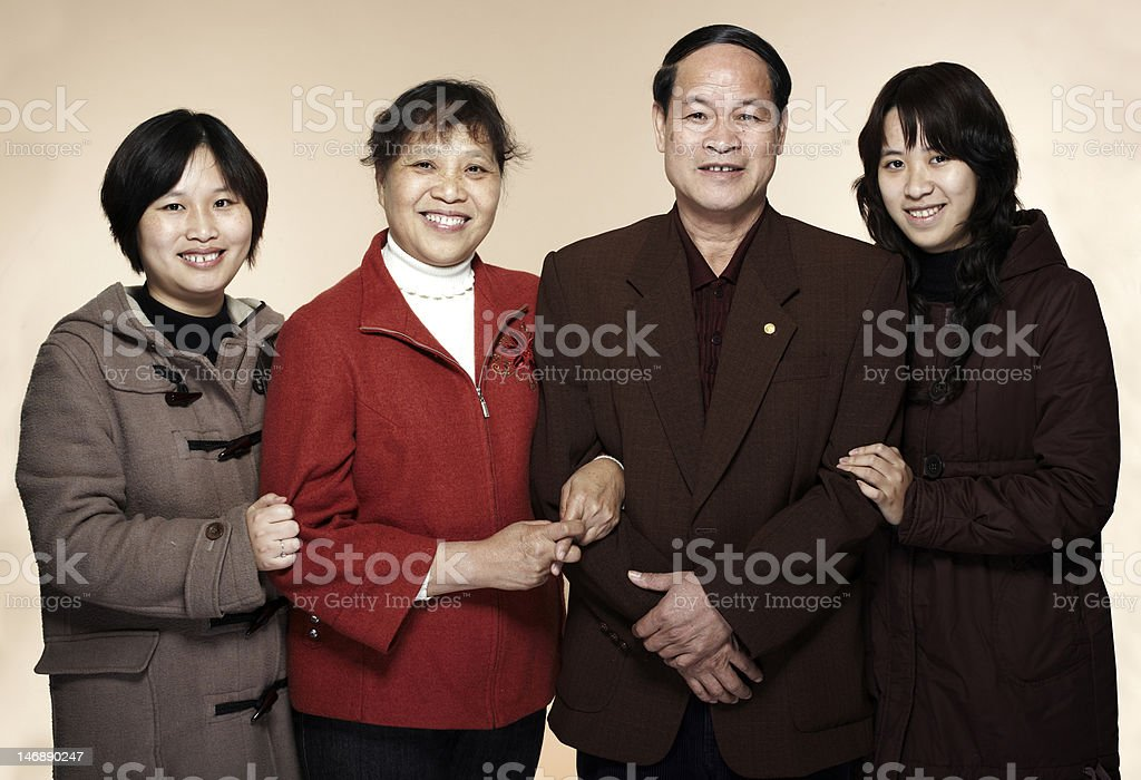 asia Family royalty-free stock photo