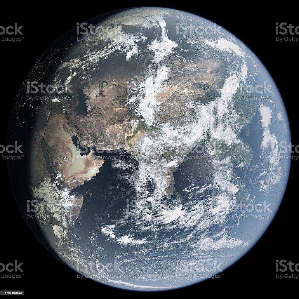 Asia from Space royalty-free stock photo