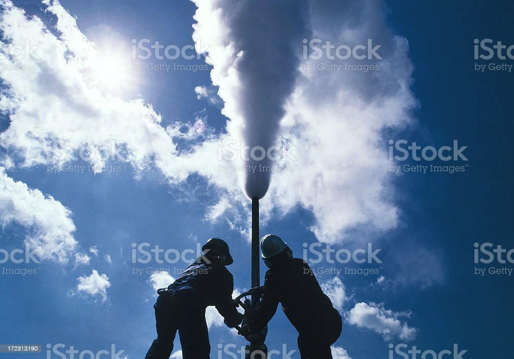 Asia, Geothermal power stock photo