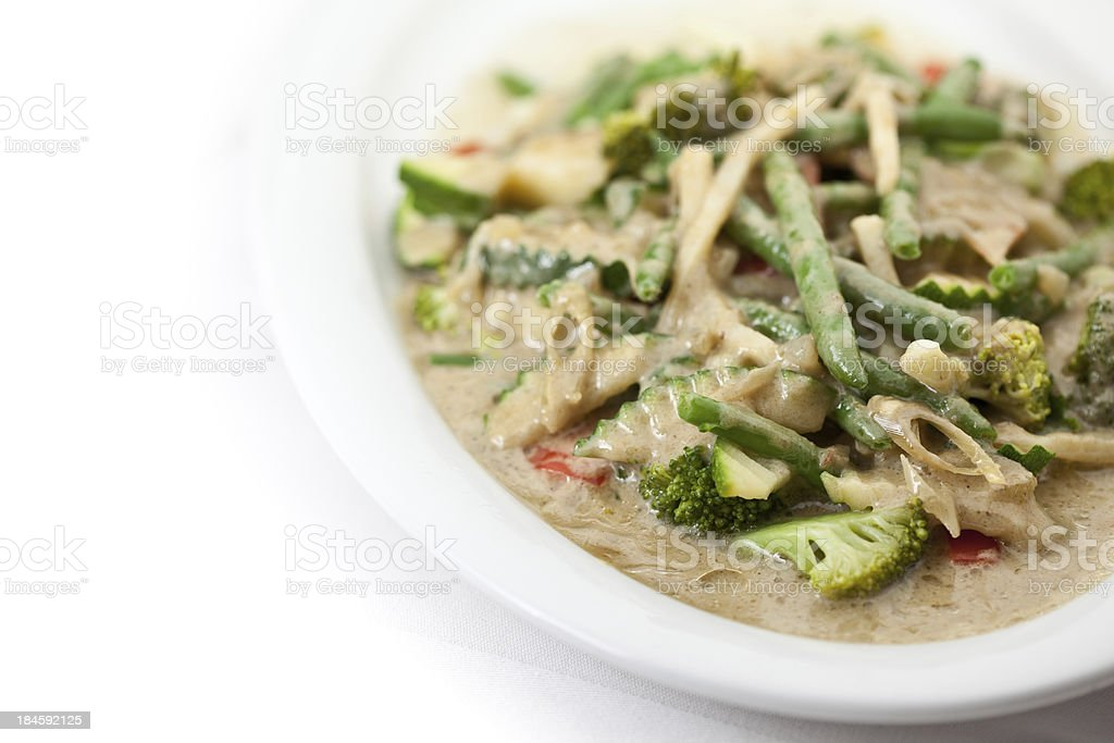 asia green curry vegetables stock photo