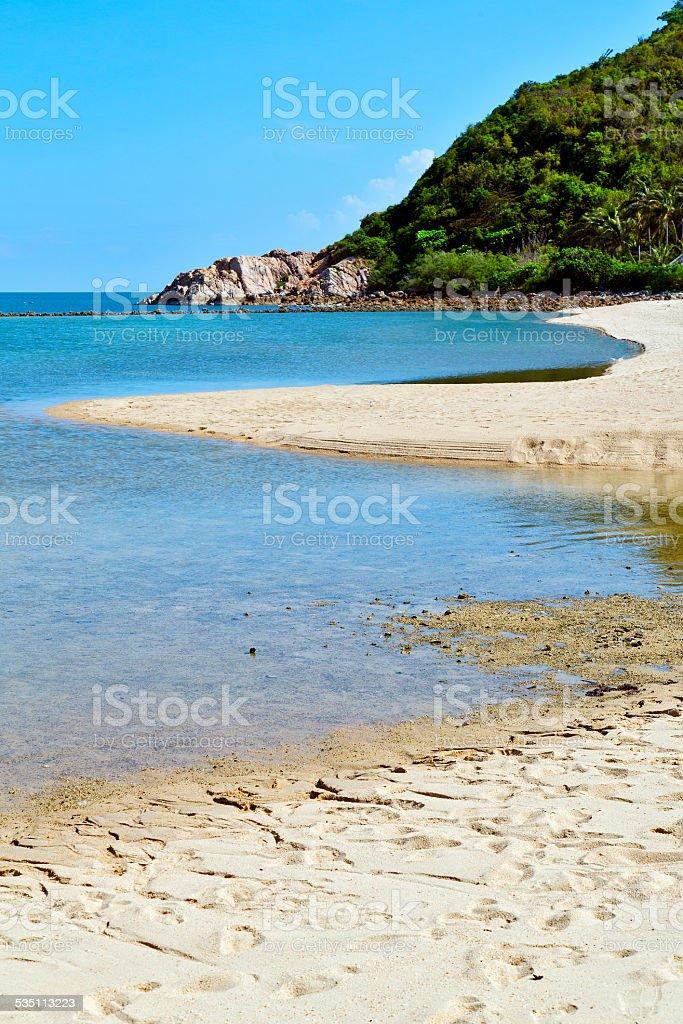 asia in  kho phangan thailand bay isle beach stock photo