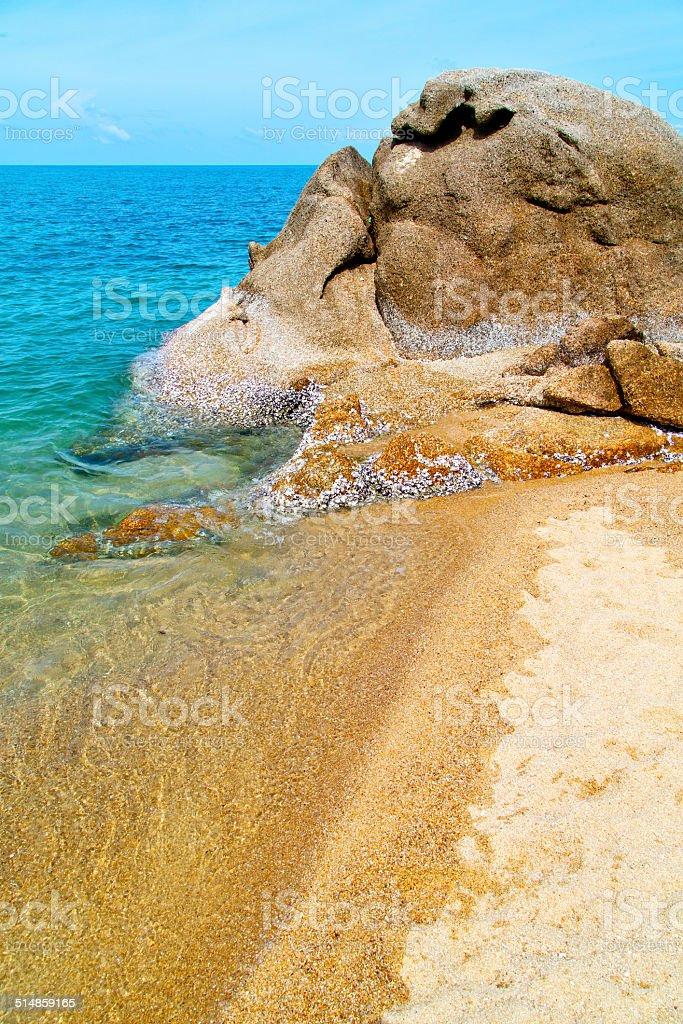 asia in thailand  kho   bay isle white  beach     china sea stock photo