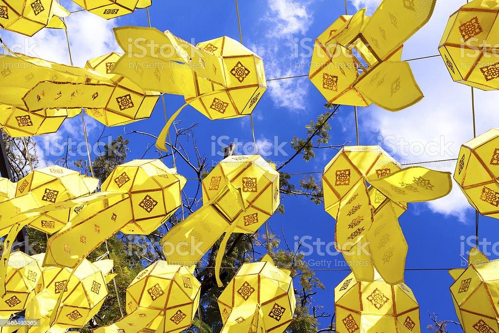 Asia lantern stock photo