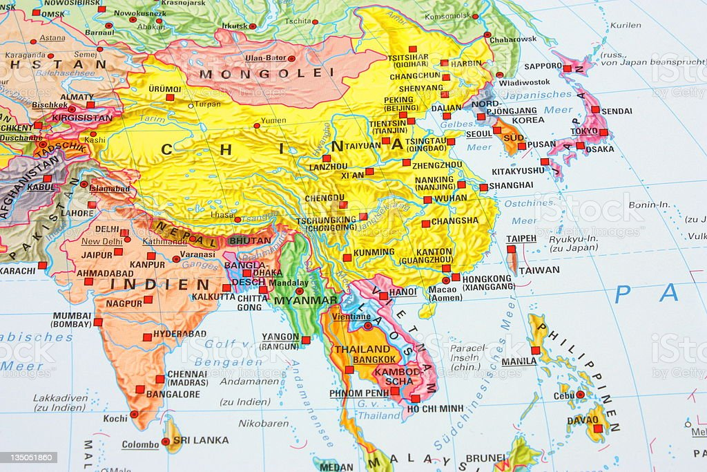 Asia map royalty-free stock photo