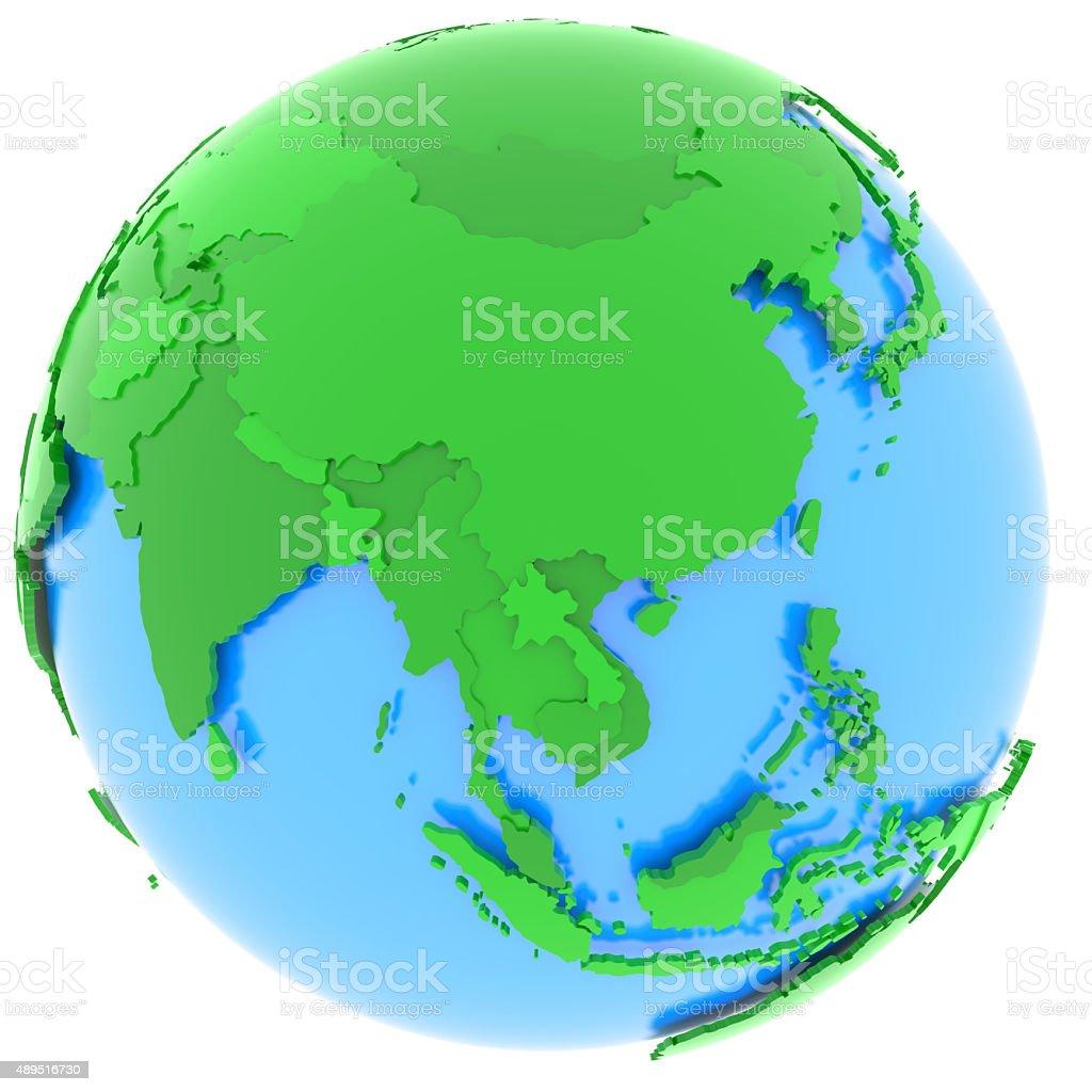 Asia on Earth stock photo