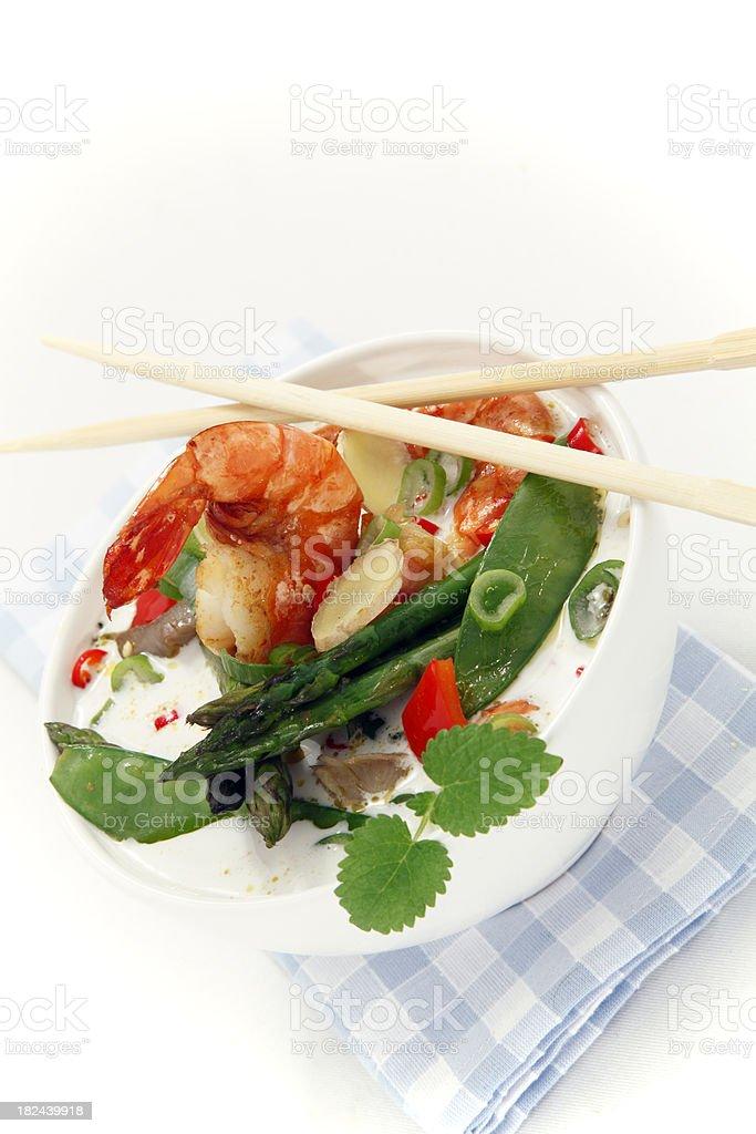 asia Seafood soup stock photo