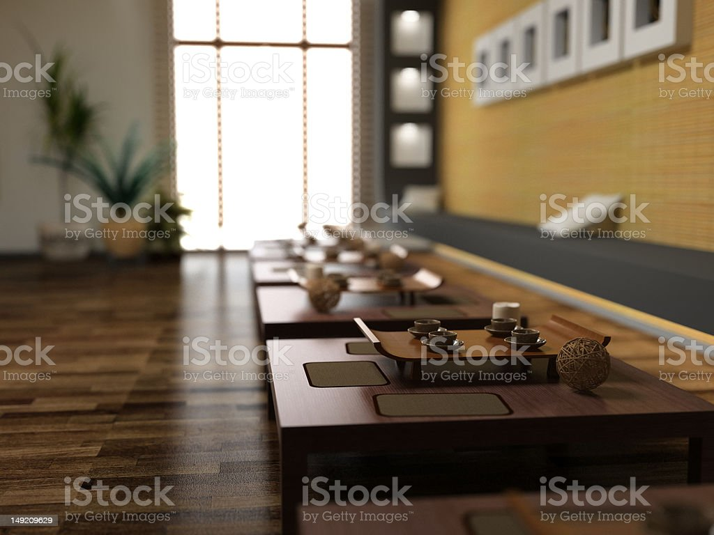 asia style restaurant stock photo