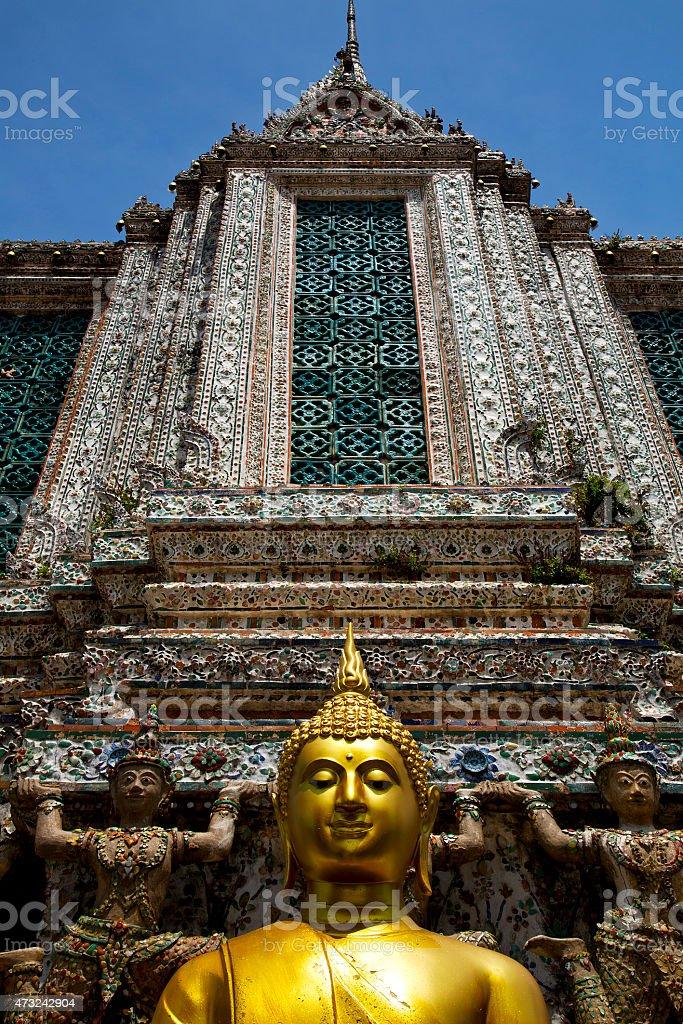 asia  thailand     bangkok sunny  buddha stock photo
