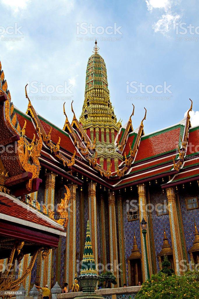 asia  thailand  in  bangkok  rain   temple abstract flower stock photo