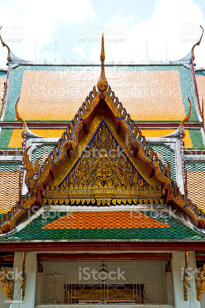 asia  thailand  in  bangkok sunny    palaces     sky           m stock photo